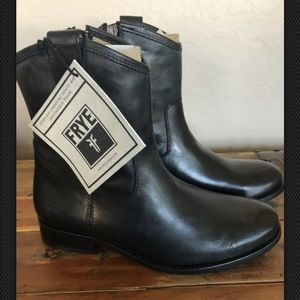 FRYE Black Cowgirl Boots 7.5 Riding Winter